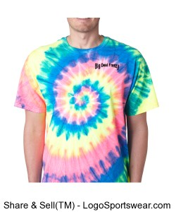 Adult Tie-Dye Neon Pigment-Dyed Spiral Tee  Design Zoom