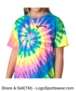Youth Tie-Dye Neon Pigment-Dyed Spiral Tee  Design Zoom
